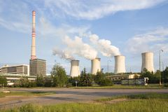 Thermal power station. Chvaletice - Czech republic Stock Photos