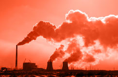 Thermal power station. Stock Photos