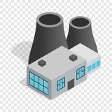 Thermal power station isometric icon Stock Photography
