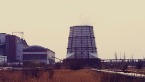 Thermal power station stock video