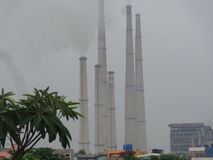 Thermal power station kolaghat wb. Royalty Free Stock Images