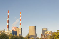 Thermal power station Lagisza, Poland. Royalty Free Stock Images