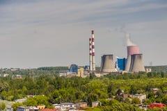 Thermal power station - Lagisza, Poland, Europe. Royalty Free Stock Image