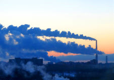 The thermal power station Royalty Free Stock Images