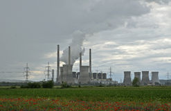 Thermal power station in Turceni Royalty Free Stock Images