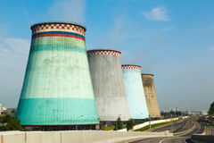 Thermal power stations and cooling tower Stock Photo