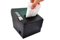 Thermal printer and check Royalty Free Stock Images