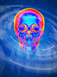 Thermal skull print Stock Image