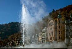 Thermal spa in Karlovy varieert Tsjechische Republiek Stock Afbeeldingen