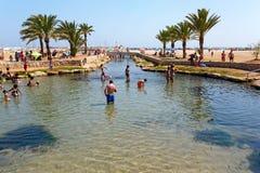 Thermal spring at Comarruga Coma Ruga beach. El Vendrell, Catalonia, Spain Royalty Free Stock Images