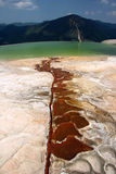 Thermal spring in Salinas. Terraced standing water near famous attraction Hierve el Agua. Oaxaca. Mexico Royalty Free Stock Photography