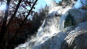 Thermal springs `Bagni San Filippo`, near Amiata mountain in Tuscany, Italy