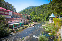 The Thermal springs in Baile Herculane during summer season, Rom Royalty Free Stock Photography