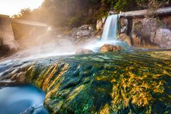 Thermal springs Loutra Thermopilon, Greece. Royalty Free Stock Image