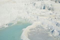 Thermal springs of Pamukkale with terraces and natural pools royalty free stock photo