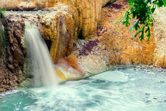 Thermal springs San Filippo Stock Images