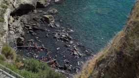 Thermal Springs in Sorgeto Bay on Ischia Island