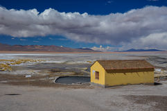 Thermal station in Sur Lipez, South Bolivia Royalty Free Stock Photography