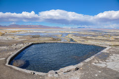 Thermal station in Sur Lipez, South Bolivia Royalty Free Stock Photo