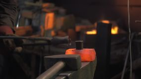 Thermal treatment of iron stock footage