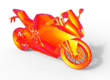 Thermal view motorcycle Royalty Free Stock Photos