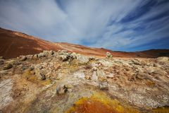 Thermal zone in Iceland Stock Images