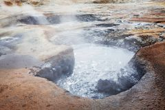 Thermal zone in Iceland Stock Photography