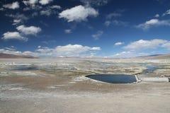 Thermalbad på 4.000 meter höjd Royaltyfri Fotografi
