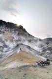 Thermalquelle in Japan Stockfotos