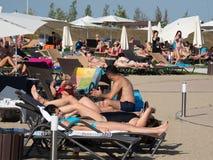Therme Balotesti - mensen relaximg royalty-vrije stock foto