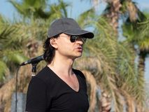 Therme Balotesti - overleg Publika - zanger stock foto
