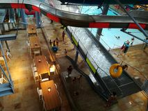 Therme Bucharest - Galaxy zone. Special area for families with indoor slides and waves pool royalty free stock image