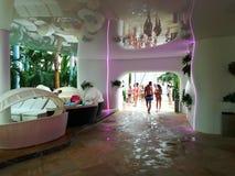 Therme resort. Indoor - at Balotesti, Romania stock photos