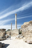 Thermes of Antoninus Pius at Carthage stock image