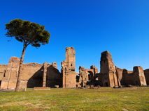 Thermes de Caracalla. Roman Baths in Rome, Italy, photo was taken in February Royalty Free Stock Photos