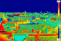 Thermisch beeldpanorama van Zagreb Royalty-vrije Stock Foto's