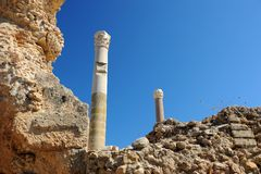 Thermische Bäder von Antonin in Karthago Lizenzfreies Stockbild