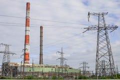 Thermische elektrische centrale stock foto