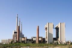 Thermische elektrische centrale stock afbeelding