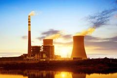 Thermische elektrische centrale Royalty-vrije Stock Afbeelding