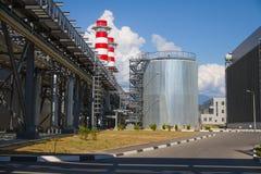 Thermische elektrische centrale Stock Foto's