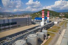 Thermische elektrische centrale Royalty-vrije Stock Foto
