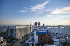 Thermische elektrische centrale Royalty-vrije Stock Fotografie
