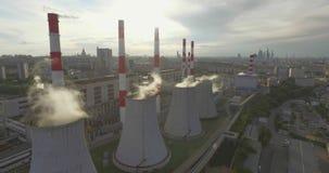 Thermische elektrische centrale stock video