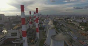 Thermische elektrische centrale stock videobeelden