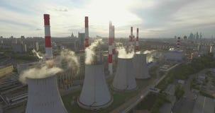 Thermische elektrische centrale stock footage