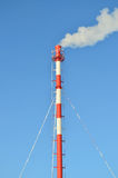 Thermische elektrische centrale in de winter Stock Foto