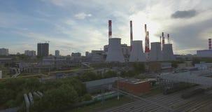 Thermische Elektrische centraleemissies stock footage