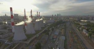 Thermische Elektrische centraleemissies stock video