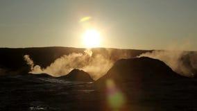 Thermische hete pools in Yellowstone stock video